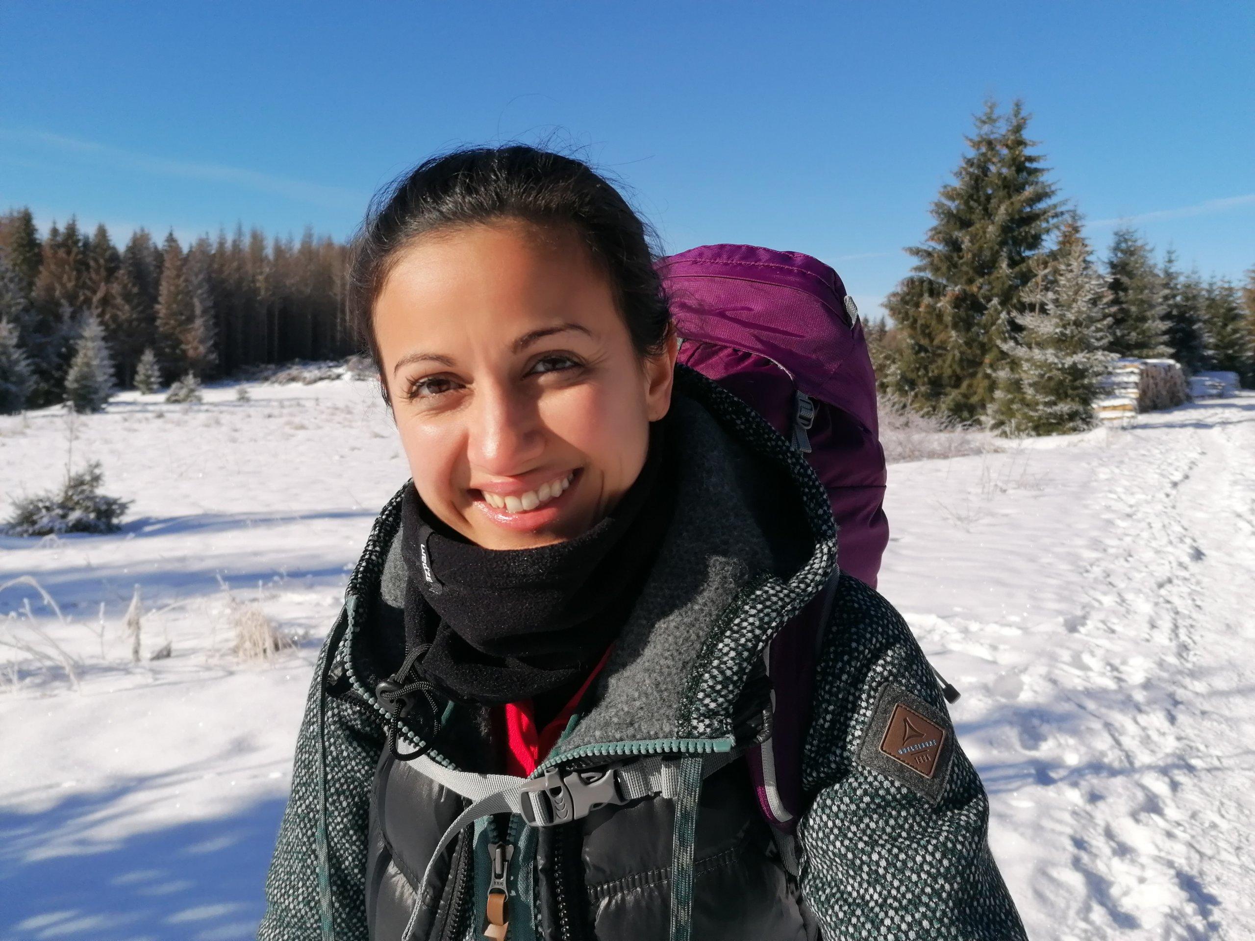 Sheida Nasseri-Jafar Teilnehmerin der Wintertrekkingtour im Harz. Mehr dazu liest du im Blogbeitrag